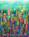 """Hoffman Spectrum Print """"Skylines"""" S#N4234 130 Multi"""