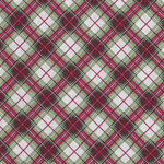Holiday Plaid From Timeless Treasures TTCM7763 Red Metallic Bias Plaid Noel.
