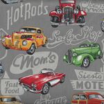 Hot Rods Quilt Fabric Style 89540 Colour 101