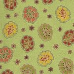 INK & ARROW Fabrics Junebee Willow 1649-26123-H Green.