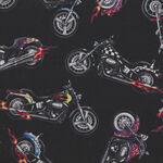 In Motion Motorcycles By Elizabeth's Studios Fabric 281 Black.