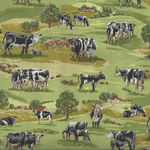 In The Country from Nutex Fabrics 89310 Color 103 Black/White Cows