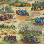 In The Country from Nutex Fabrics 89310 Color 2 Tractors