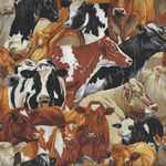 In The Country from Nutex Fabrics 89310 Color 6 The Herd Mixed Cattle/Cows