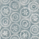 Island Batik Cotton Fabric 121906729 Col. Grey Circles.