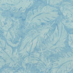 Island Batik Cotton Fabric 121922511 Col. Babyblue Feathers.