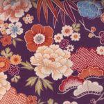 Japanese Cotton Quilting Fabric Plum
