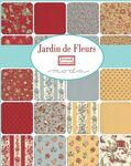 """Jardin De Fleurs Layer Cake By French General For Moda 42 x 10"""" Squares 13890LC."""