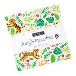 Jungle Paradise Charm Pack by Stacey Iset Hsu For Moda 20780PP Patchwork & Quilt