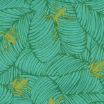 Jungle Paradise by Stacey Iset Hsu For Moda Fabrics M20786-18 Frogs.