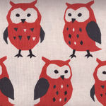 KOKKA Co.,Ltd. Cotton/Linen OWL Fabric PA-38400  400A01