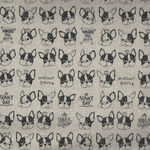 KOKKA French Bulldog Cotton/Linen YKA-56030-1A00