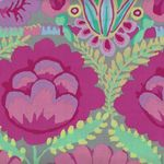 Kaffe Fassett Artisan for Free Spirit Embroidered Flower Border PWKF001 Pink
