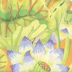 """Kaffe Fassett Classics Cotton Fabric """"Lake Blossoms"""""""