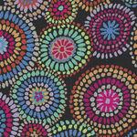 Kaffe Fassett Collective Mosaic Circles PWGP176. Color Black. BEST PRICE.