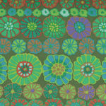 Kaffe Fassett Collective for Free Spirit Fall PWGP169.Green Pattern Row Flowers