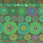 Kaffe Fassett Collective for Free Spirit Fall PWGP169.Green Pattern Row Flowers