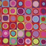 Kaffe Fassett Collective for Free Spirit PWGP 171 RED Pattern Tiddlywinks