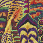 Kaffe Fassett Collective for Free Spirit PWP J055. GoldX Pattern Feathers