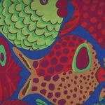 Kaffe Fassett Collective for Free Spirit Spring 2015 Pattern Shoal PWBM051. Blue