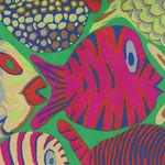 Kaffe Fassett Collective for Free Spirit Spring 2015 Pattern Shoal PWBM051. Gree
