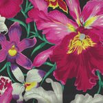 Kaffe Fassett Collective for Free Spirit Spring 2018 PWP J092 Orchids Black