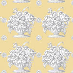 Kaffe Fassett Collective for Free Spirit  PWPG 173 Stone Flower Beige Soft Butte
