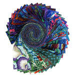 Kaffe Fassett Design Roll-Cold for Free Spirit Fabric FB4DRGP. A2020 COLD.