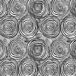"""Kaffe Fassett Onion Rings Wide Quilt Backing 108"""" QBBM001. Black/White."""