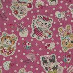Kokka Retro Cute Cat Cotton/Linen 80/20 10A-95000 2A11