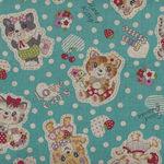 Kokka Retro Cute Cat Cotton/Linen 80/20 10A-95000 2B12