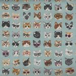 Kokka Textile Collection Fabric Cats PA-45100 101 Colour 12
