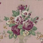 Kono Sanae For YUWA Fabrics of Japan Dusky Pink Rose Baskets.