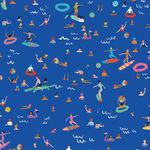 Lazy Days By Dashwood Studio Lazy 1751 / Blue / Surfer/ Swimmer.