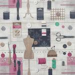 Le Quilt Stof France Couture1 Color Multi QU5703001/DP