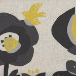 Lecien Modern Cotton/Linen Blend Fabric 40929 Colour 10. Natural/Black/Yellow