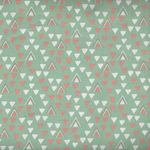 Little Ones by 3 Wishes Fabrics Lo Triangle Green 12051 Green