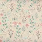 Little Ones by 3 Wishes Fabrics Lo Woodsy Floral Peach 12050- Peach