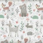Little Ones by 3 Wishes Fabrics Lo Woodsy Friends 12045 White