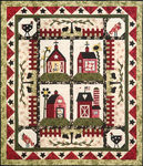 "Little Red Barns Set 6 Patterns from The Quilt Company Size 62"" x 72"""
