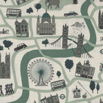 London Town From Cotton+Steel Forever CSSY100-MI3U Col. Green Unbleached.