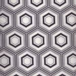 MINIMILISTA COTTON FABRIC HEXA NOIR BY AGF FABRICS