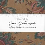 "MODA Charm Pack Grace's Garden 1820 - 1860  5"" Squares x 42 cuts 52106"