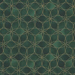 Magic Christmas From Stof Fabrics 4597 803 Rich Green/Gold.