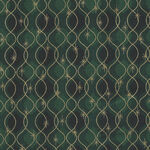 Magic Christmas From Stof Fabrics 4597 808 Rich Green/Gold.