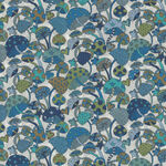 "Magic Liberty Of London Tana Lawn Width 53"" 036302130B Color Blue/White Mushroom"
