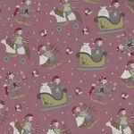 Make Ready For Christmas by Natalie Bird for Devonstone Fabrics DV3292 Pink.