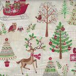 Makower UK Traditional Metallic Christmas Style TP 1790 Colour 1