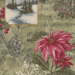 Marches De Noel by 3 Sisters for Moda Fabrics M44230-13 Green.