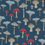 Michael Miller Fabric Champignons-Sweet Mushrooms DC8319-Teal-D